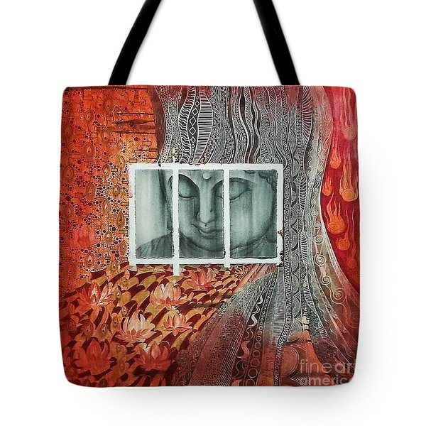 The Buddhist Color Tote Bag by Fei A