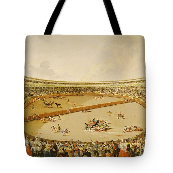 The Bullfight Oil On Canvas Tote Bag