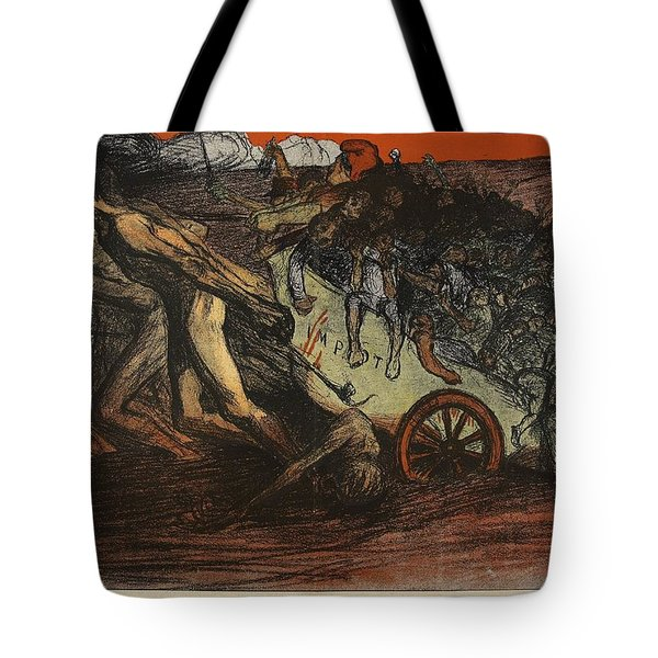 The Burden Of Taxation, Illustration Tote Bag by Eugene Cadel