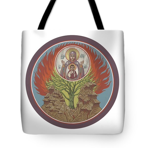 Tote Bag featuring the painting The Burning Bush 249 by William Hart McNichols