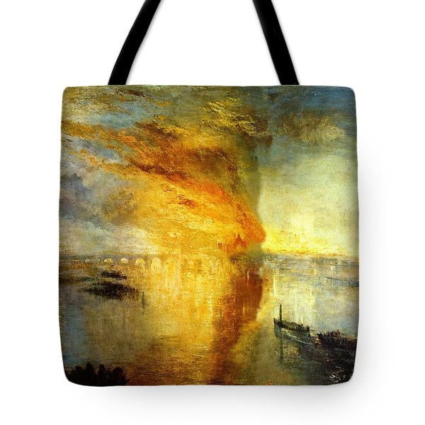 The Burning Of The Houses Of Lords And Commons Tote Bag by Celestial Images
