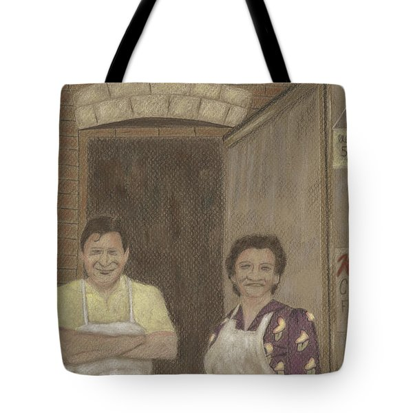 The Butcher And His Wife  Tote Bag