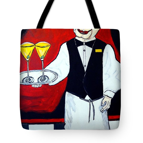 Tote Bag featuring the painting The Butler  by Nora Shepley
