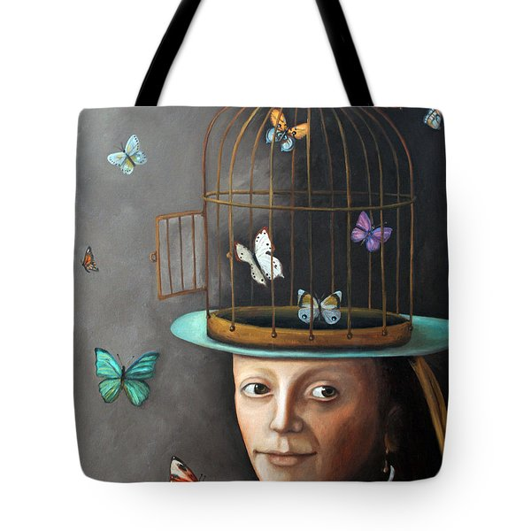 The Butterfly Keeper 1 Tote Bag by Leah Saulnier The Painting Maniac