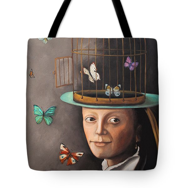 The Butterfly Keeper Edit 2 Tote Bag by Leah Saulnier The Painting Maniac