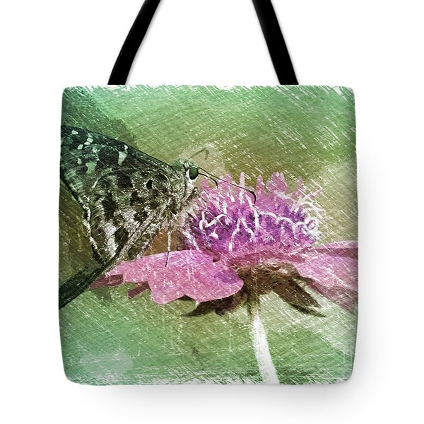 The Butterfly Visitor Tote Bag by Carol Groenen