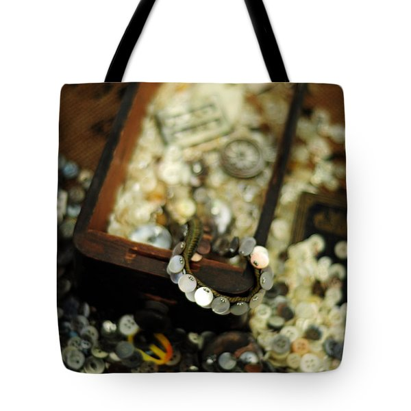 The Button Drawer Tote Bag by Rebecca Sherman