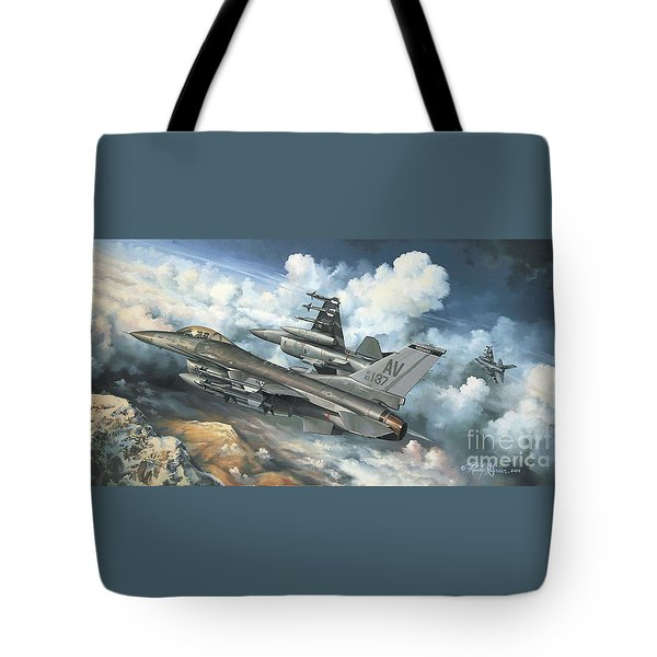 The Buzzard Boys From Aviano Tote Bag by Randy Green