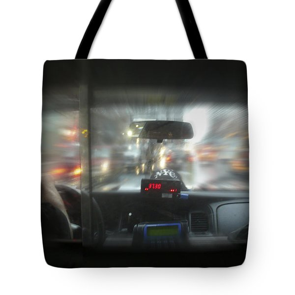 The Cab Ride Tote Bag by Mike McGlothlen