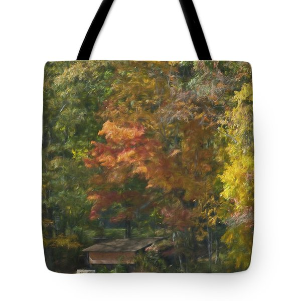 The Cabin At Cherry Brook Tote Bag by Jean-Pierre Ducondi