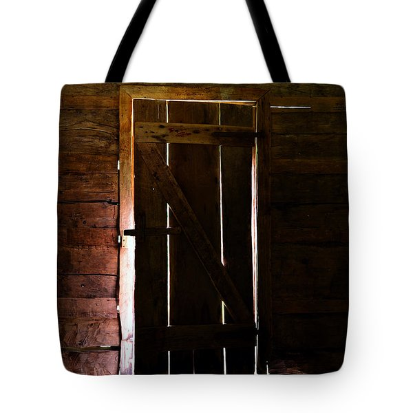 The Cabin Door Tote Bag by David Lee Thompson