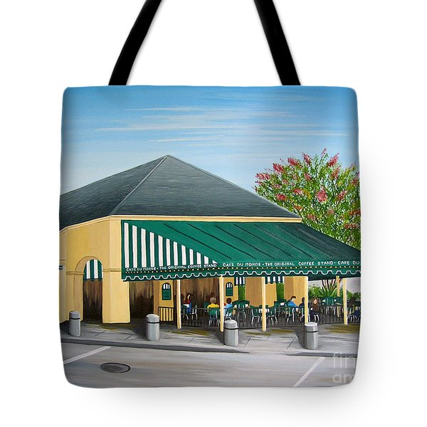 The Cafe Tote Bag by Valerie Carpenter