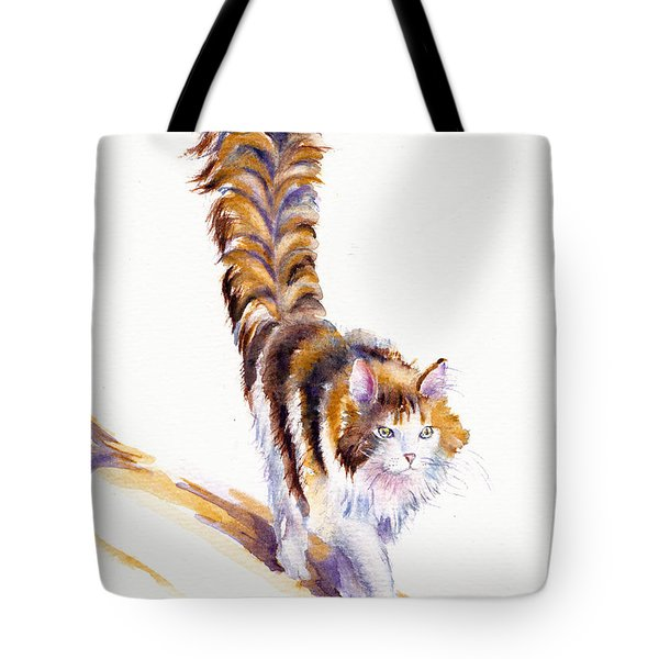 The Calico Cat That Walked By Himself Tote Bag