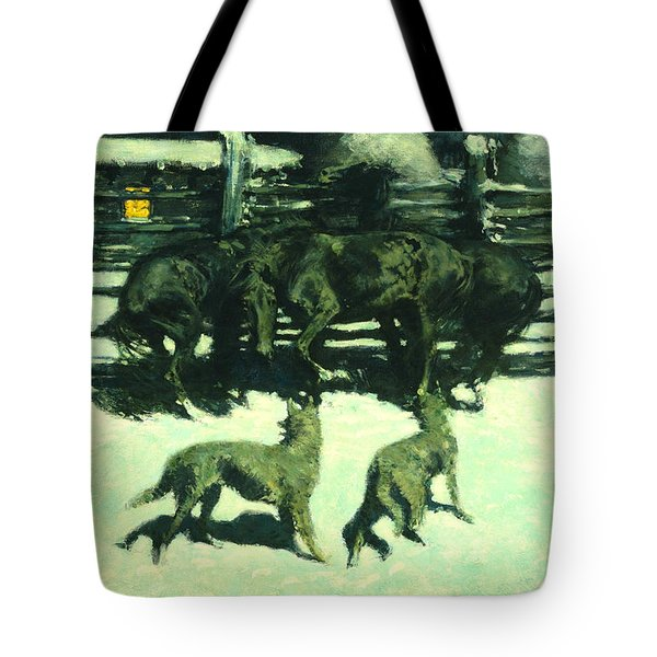 The Call For Help Tote Bag by Fredrick Remington