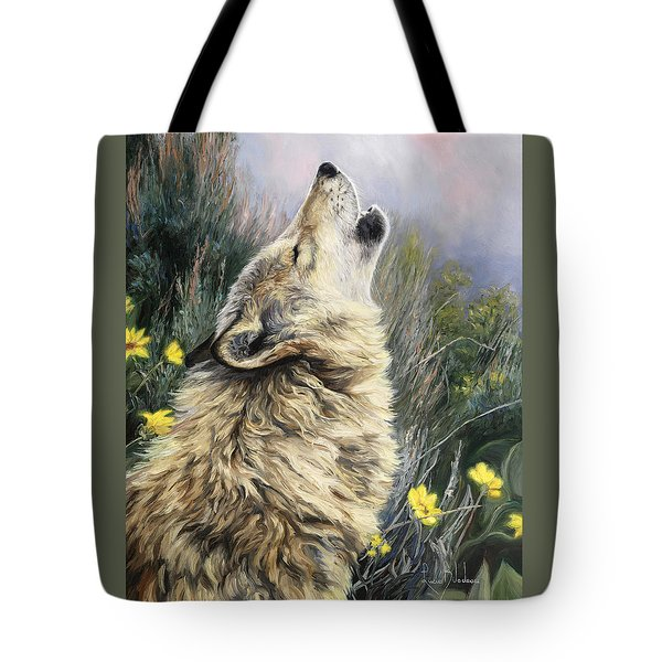 The Call Tote Bag by Lucie Bilodeau