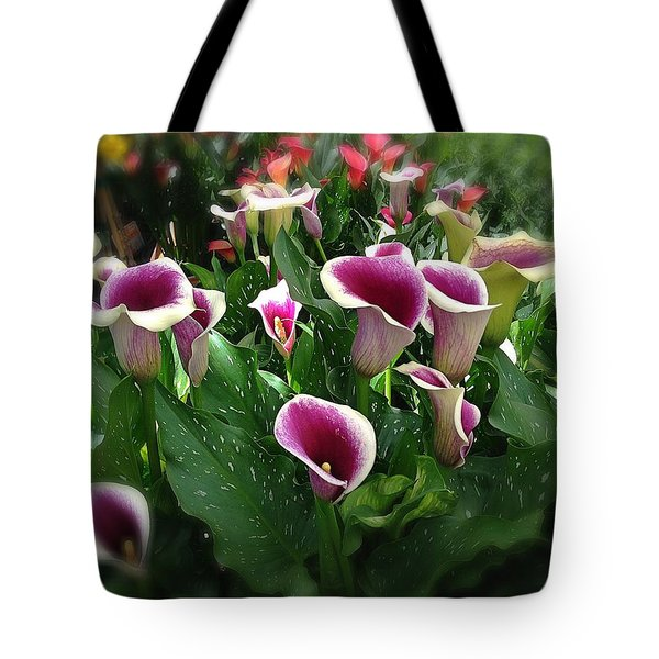 The Calla Lilies Are In Bloom Again Tote Bag