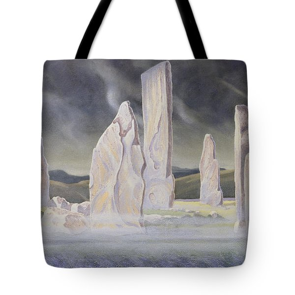 The Callanish Legend Isle Of Lewis Tote Bag by Evangeline Dickson