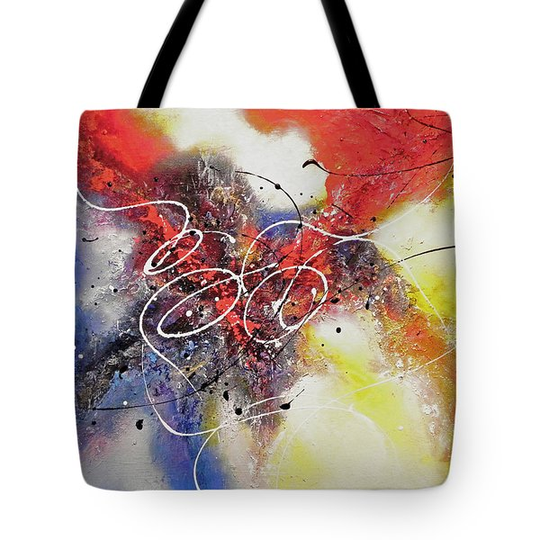 Tote Bag featuring the painting The Calm Before The Storm by Patricia Lintner