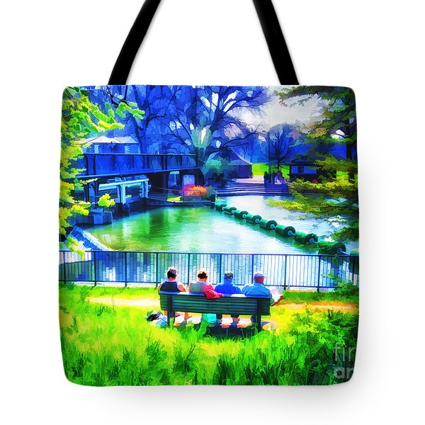 Tote Bag featuring the photograph The Cam Flows Sweetly By by Jack Torcello