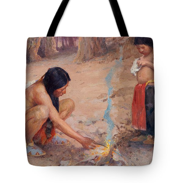 The Campfire Tote Bag by EI Couse