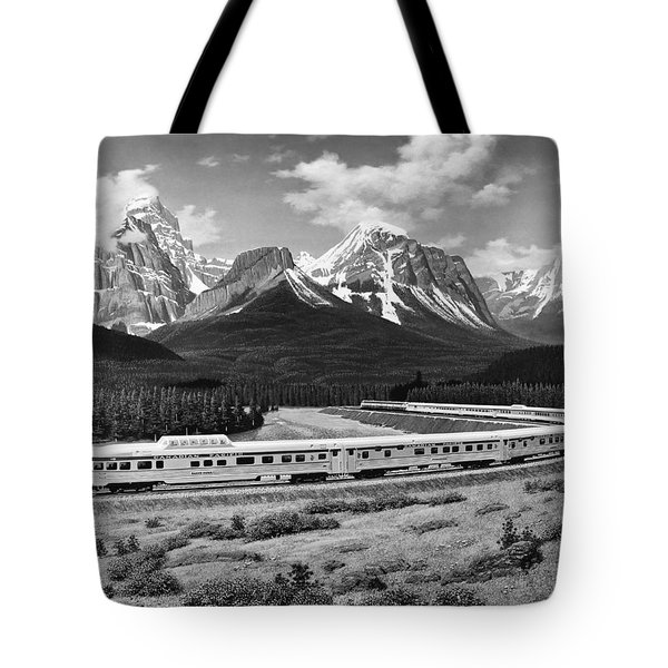 the Canadian Train Tote Bag