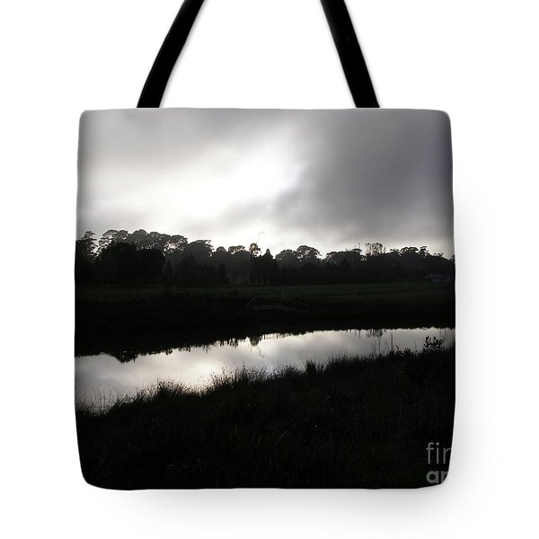 Tote Bag featuring the photograph The Canal by Bev Conover