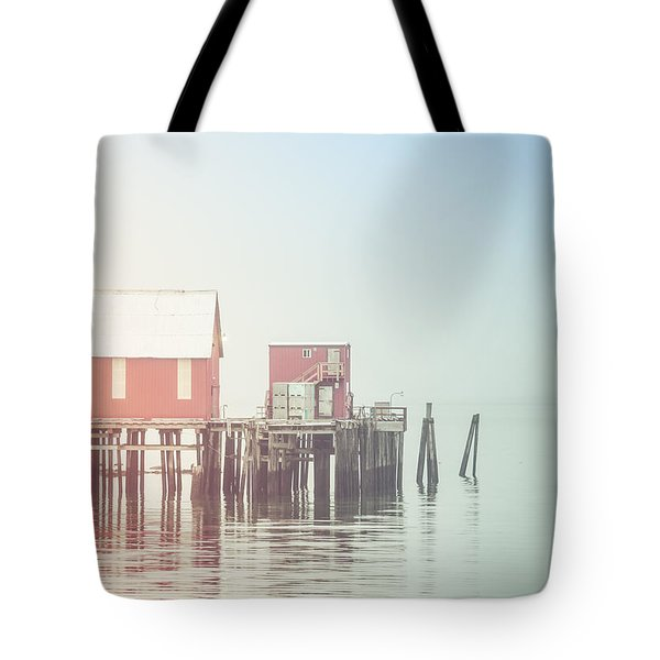 The Cannery In Fog Tote Bag
