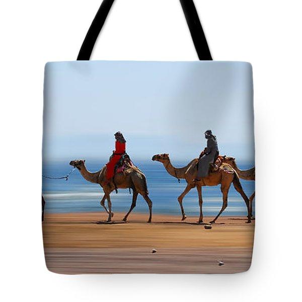 The Caravan Tote Bag by Hannes Cmarits