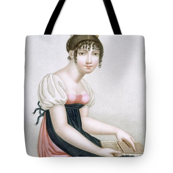 The Carder, Engraved By Augrand, C.1816 Tote Bag