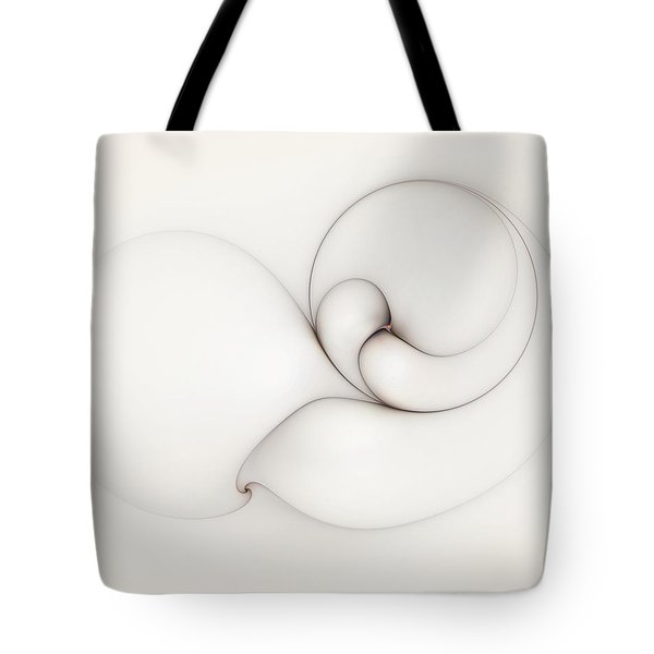 Tote Bag featuring the digital art The Caress by Casey Kotas