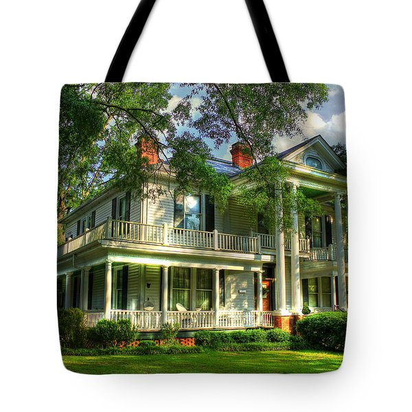 A Southern Bell The Carlton Home Art Southern Antebellum Art Tote Bag