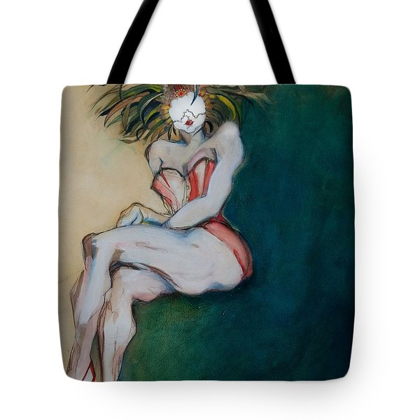 The Carnival Queen - Masked Woman Tote Bag