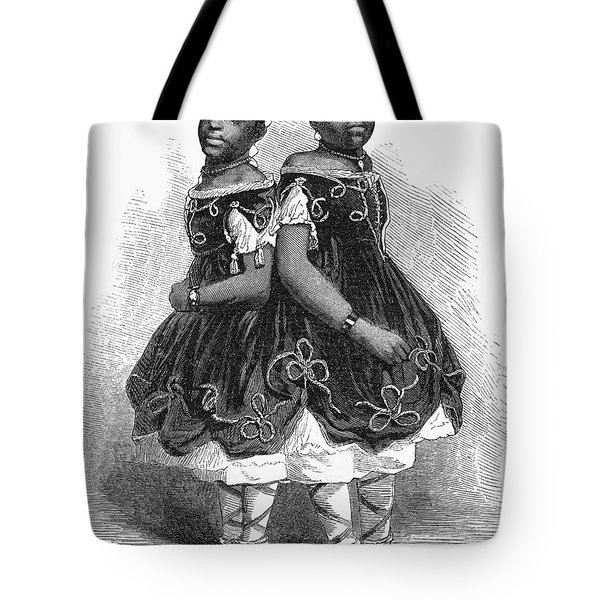 The Carolina Twins, 1866 Tote Bag