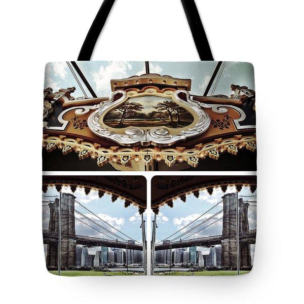 The Carousel And The Bridge Tote Bag
