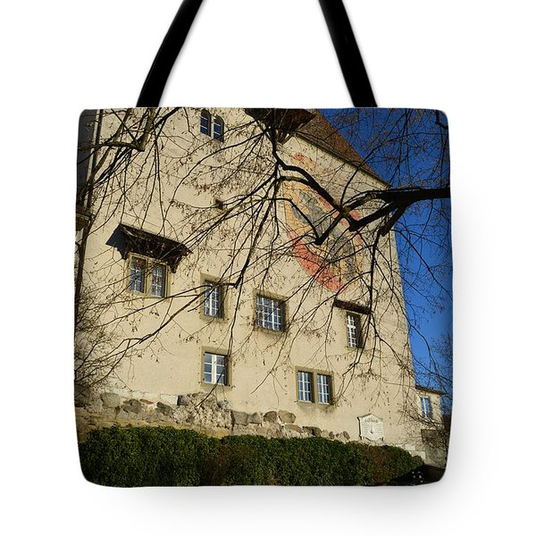 Tote Bag featuring the photograph The Castle Greets A Sunny Day by Felicia Tica