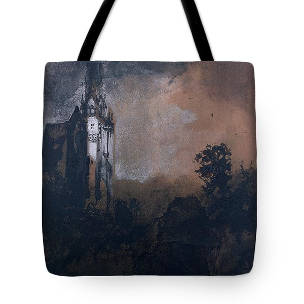 The Castle In The Moonlight  Tote Bag by Victor Hugo