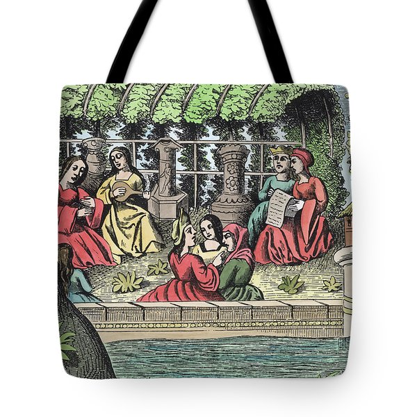 The Castle Of Alamond And Its Enchantments Tote Bag by French School