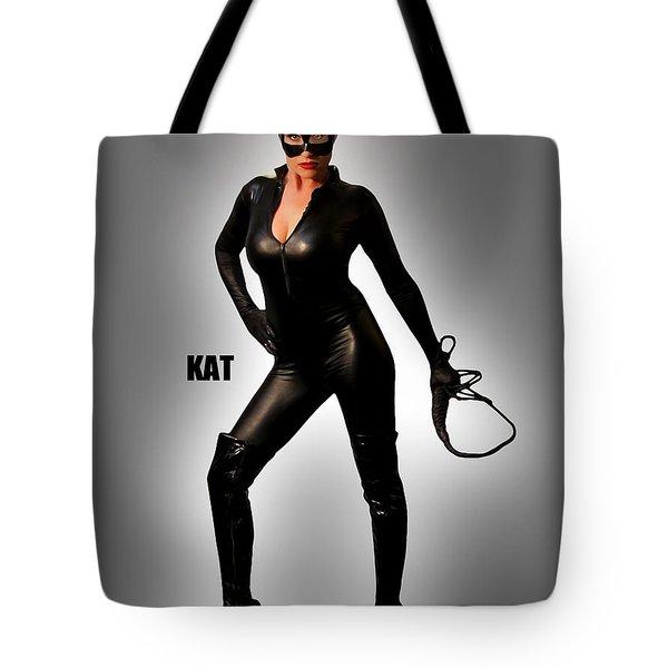 Kat Vgirl Pinup Tote Bag