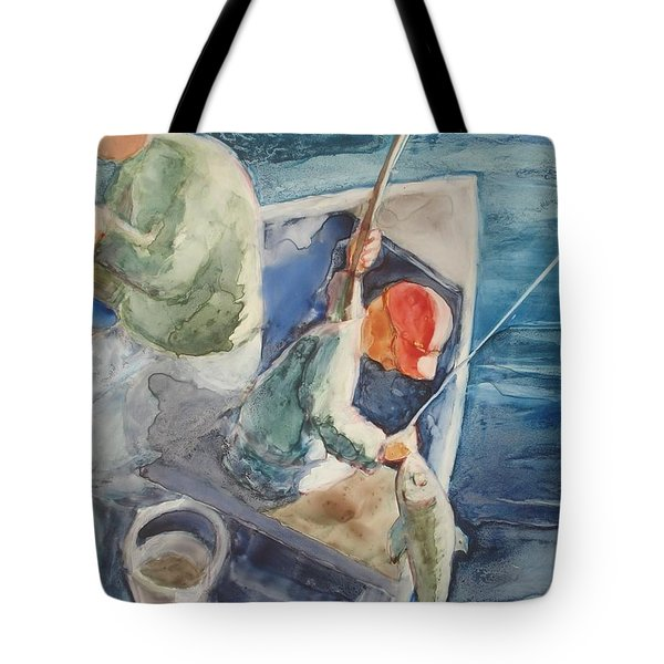 The Catch Tote Bag by Marilyn Jacobson