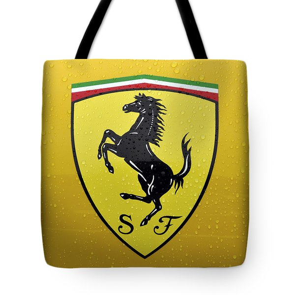 The Cavallino Rampante Symbol Of Ferrari Tote Bag