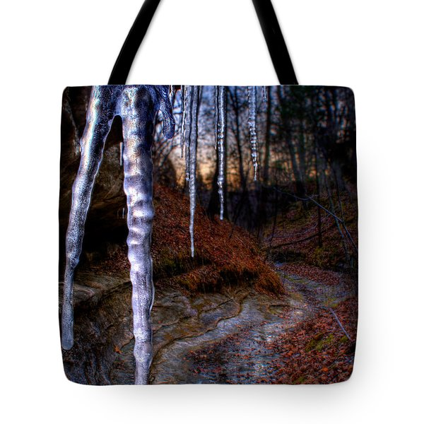 The Cave Of The Crystal Daggers Tote Bag
