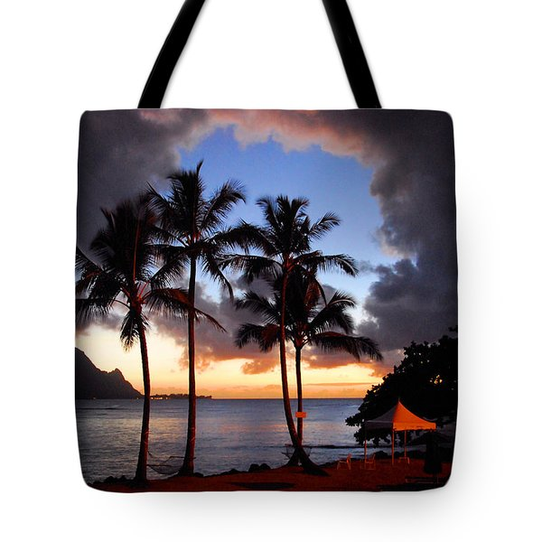 The Center Of The Storm Tote Bag by Lynn Bauer