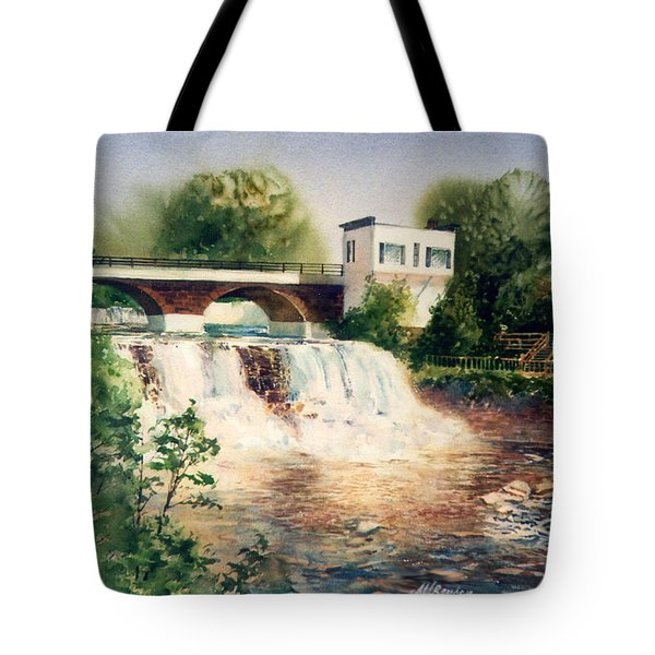 The Chagrin Falls In Summer Tote Bag