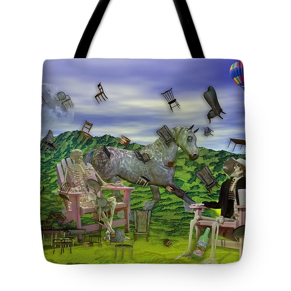 The Chairs Of Oz Tote Bag by Betsy Knapp