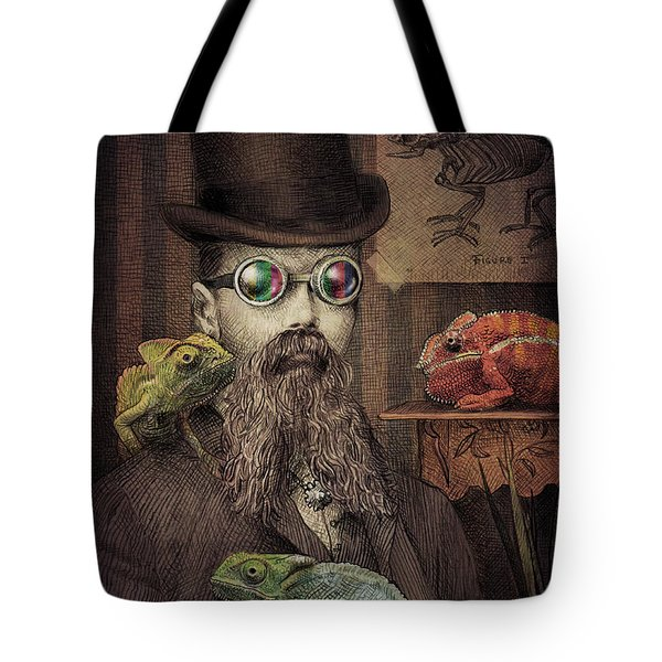 The Chameleon Collector Tote Bag by Eric Fan