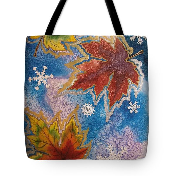Tote Bag featuring the painting The Change by Margaret Bobb