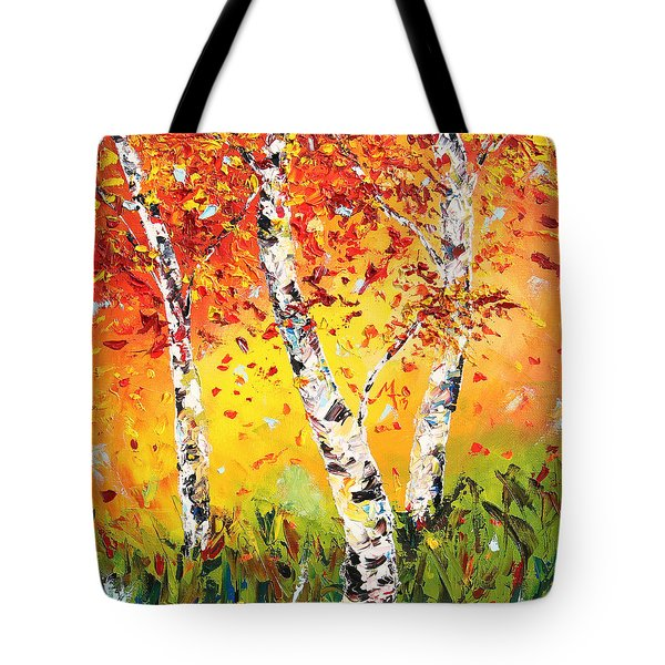 Tote Bag featuring the painting The Change by Meaghan Troup