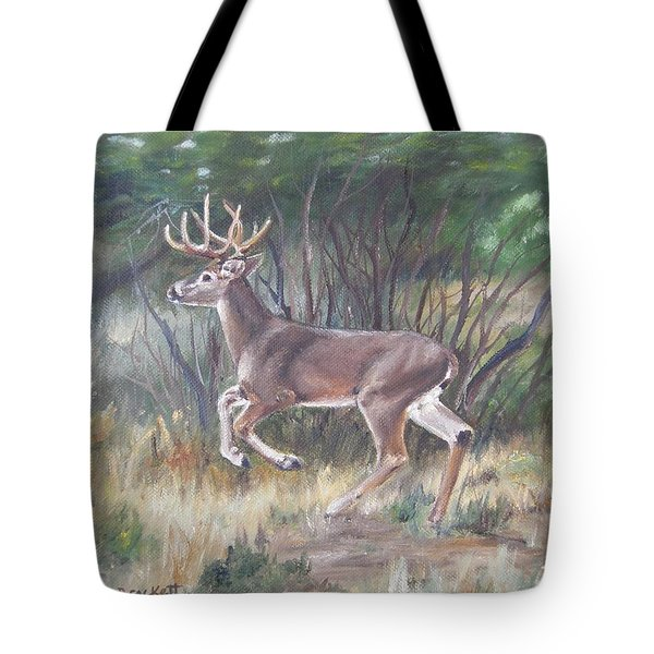 The Chase Is On Tote Bag by Lori Brackett