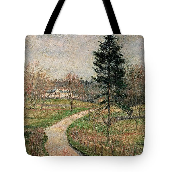 The Chateau At Busagny Tote Bag by Camille Pissarro