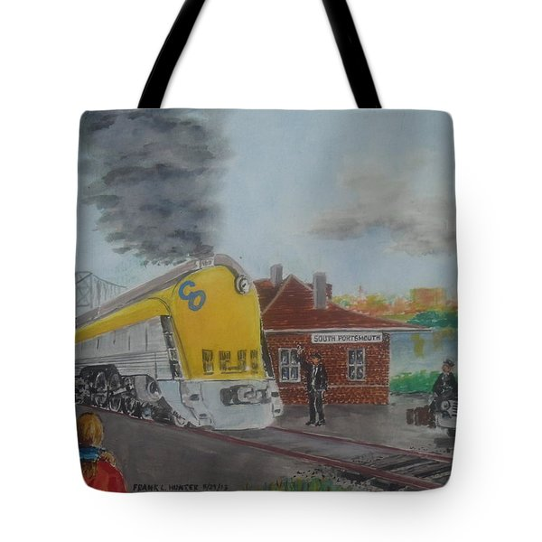 The Chesapeake And Ohio George Washington At South Portsmouth Station Tote Bag